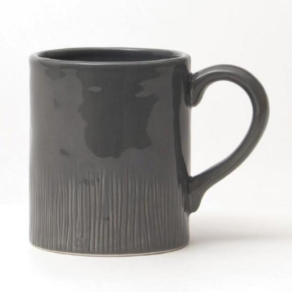"""Tasse """"Organic"""", dunkelgrau, H 10,5 cm, Ø 8,5 cm"""