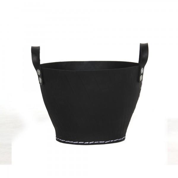 Korb mit Griff Autoreifen S, schwarz, Ø 35 cm, H 25 cm