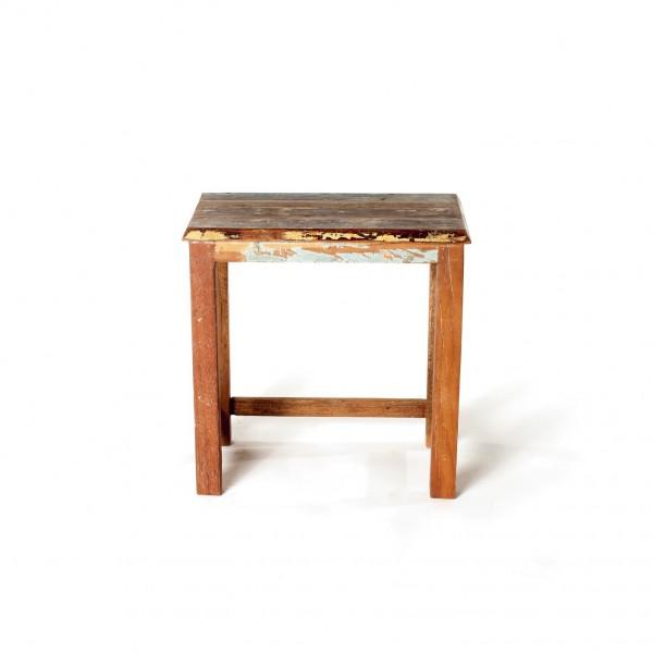 Beistelltisch 'Jarrow' aus recyceltem Holz, multicolor, T 25 cm, B 33 cm, H 38 cm