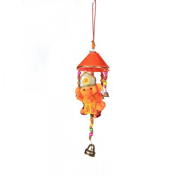 Ganesha mit Schirm, Orange