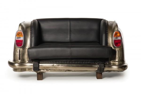 Sofa 'Ambassador Classic', Heck, 2-Sitzer, silber, L 70 cm, B 163 cm, H 78 cm