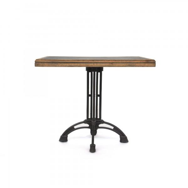 Tisch 'Turbat', braun, schwarz, T 80 cm, B 80 cm, H 76 cm