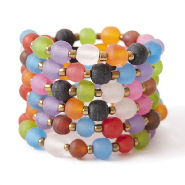 "Armreif ""Bunte Perlen"", multicolor"
