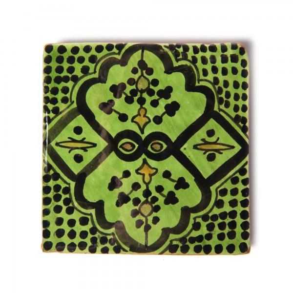 "Fliese ""safi vert"", grün/schwarz, T 10 cm, B 10 cm, H 1 cm"