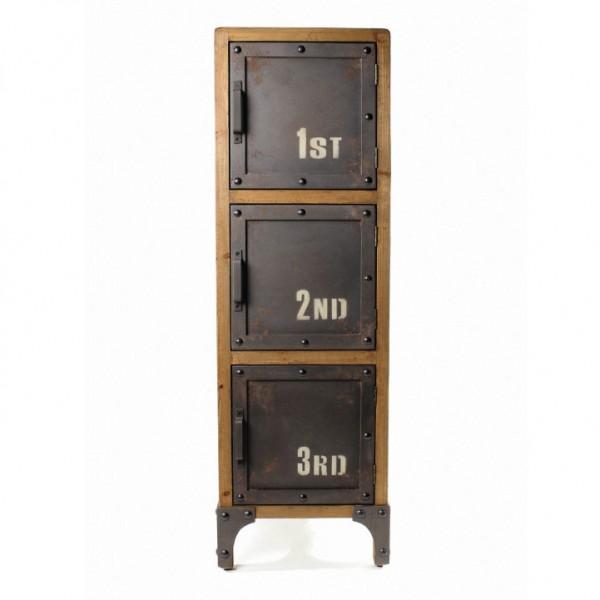 Aktenschrank 'Caines' mit 3 Türen, L 36 cm, B 36 cm, H 102 cm