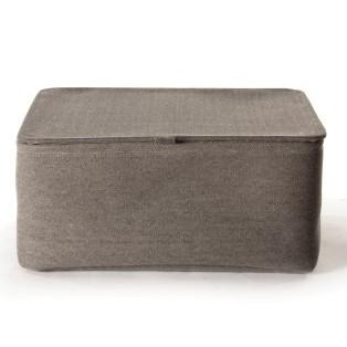 Aufbewahrungskorb mit Deckel XL, grau, L 33 cm, B 40 cm, H 19 cm