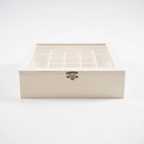 Sortierkasten 'Anshan' mit 26 Sortierboxen, natur, L 25 cm, B 25 cm, H 7 cm
