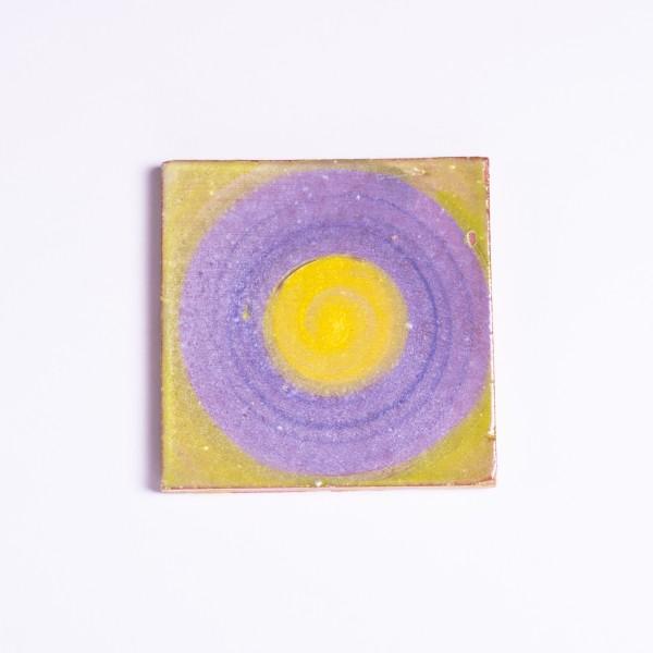 "Handbemalte Fliese ""Rond"", L 10 cm, B 10 cm"