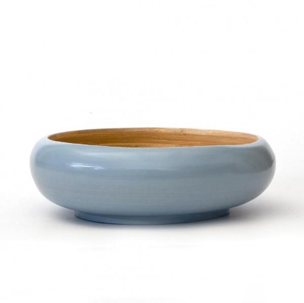 Bambusschale , hellblau/natur, H 8,5 cm, Ø 25 cm