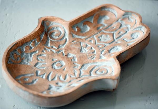 Teller Ablage 'Fatima', natur, T 31 cm, B 22 cm, H 4 cm