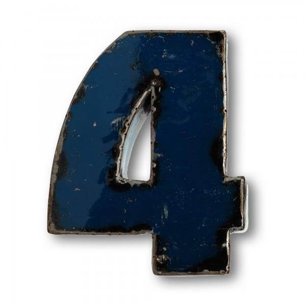 Metallziffer '4', multicolor, T 14 cm, B 20 cm, H 4 cm