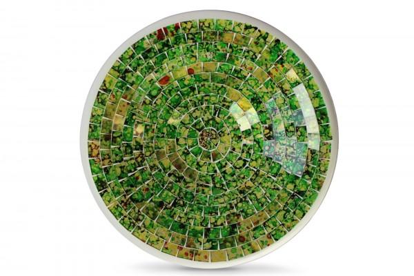 """Glasmosaikschüssel """"Brazil"""", grün/gelb, H 6,5 cm, Ø 27 cm"""