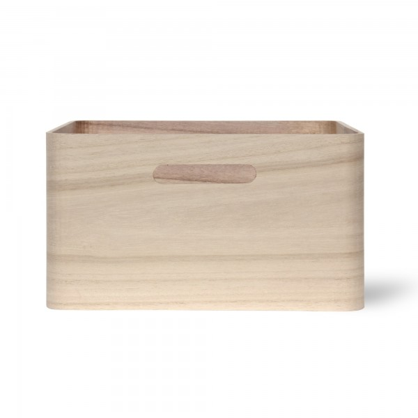 Holzkasten 'Birkir' 4/9, hellbraun, T 21 cm, B 21 cm, H 9 cm