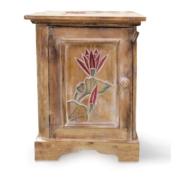 """Schränkchen """"Seelilie"""" mit handgeschnitzten Ornamenten, L 40 cm, B 40 cm, H 50 cm"""