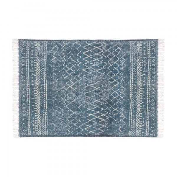 Teppich 'Arjuna', blau, weiß, T 140 cm, B 200 cm