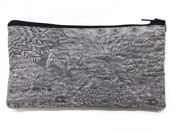 Mehrzwecketui 'Tipton', grau, schwarz, T 11 cm, B 21 cm
