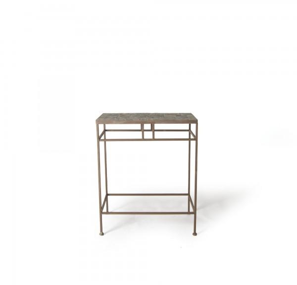 """Mosaiktisch """"Grignan L"""", aus Naturstein, grau/braun, L 30 cm, B 48 cm, H 58 cm"""