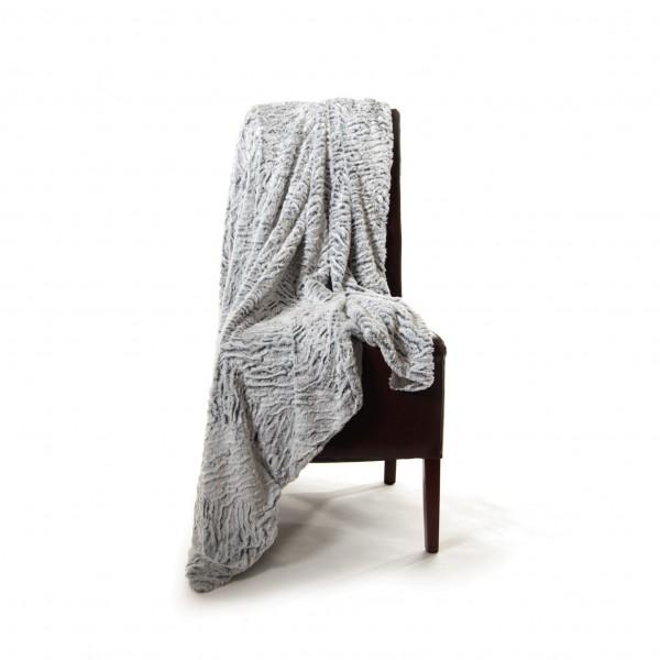 Decke 'Fell', weiß, L 200 cm, B 150 cm