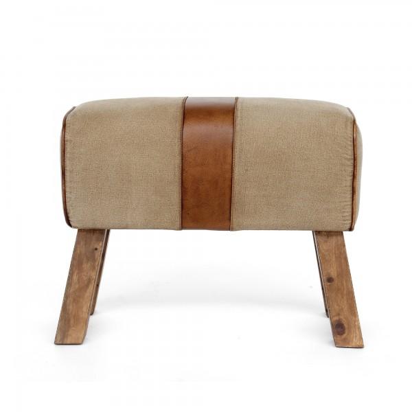 Sitzbock 'Scott', weiß, braun, T 67 cm, B 32 cm, H 47 cm