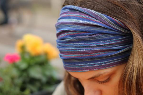 Haarband 'Pittsburgh', aus 100% Baumwolle, lila