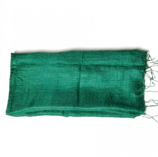 Seidenschal, grün, L 35 cm, B 170 cm