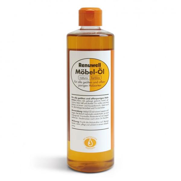 Möbel-Öl, 500 ml, für alle geölten und offenporigen Holzarten