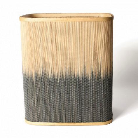 Wäschekorb aus Bambus S, natur/braun, L 22 cm, B 31 cm, H 36 cm