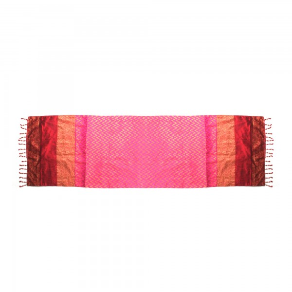 "Tischläufer ""Microwaves"", rot/gold/pink, L 150 cm, B 40 cm"