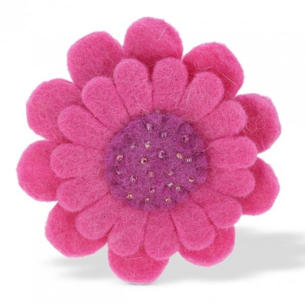"Brosche ""Blume"", pink/lila, Ø 9 cm"