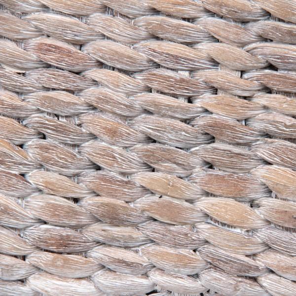 """Korb """"White wash L"""", aus Wasserhyazinthe, geweißt, L 25 cm, B 34 cm, H 15 cm"""