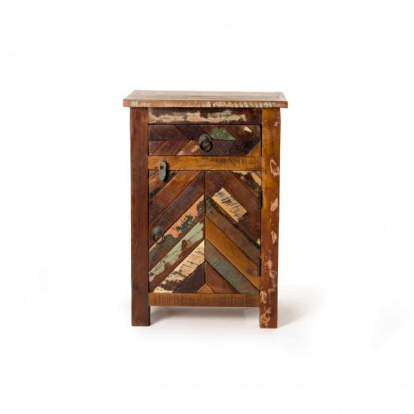"""Schränkchen """"Dice"""", mit 1 Tür und 1 Schublade, multicolor, L 33 cm, B 46 cm, H 66 cm"""