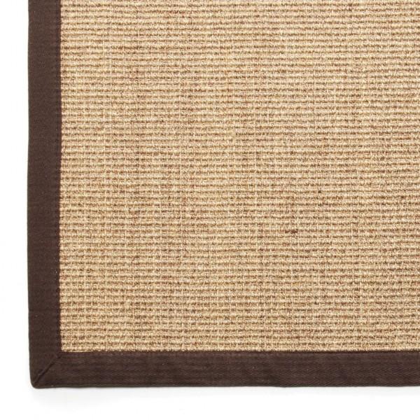 Sisalteppich, dunkelbraun/khaki, L 300 cm, B 200 cm