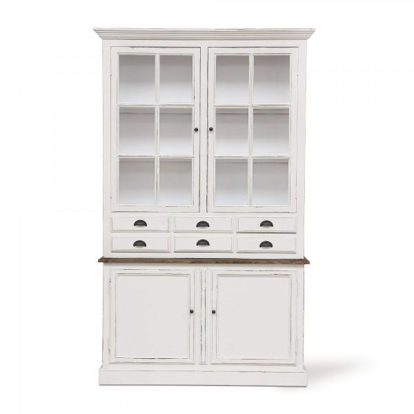 Anrichte 'Banon', vintage weiß, T 45 cm, B 136 cm, H 220 cm