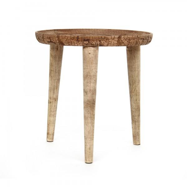 Tisch 'Paon', natur, Ø 44 cm, H 46 cm