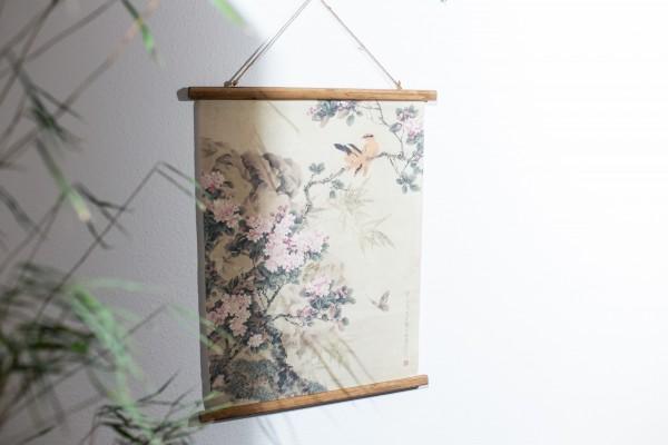 Rollbild auf Leinwand 'Springtimes', multicolor, T 2 cm, B 63 cm, H 78 cm
