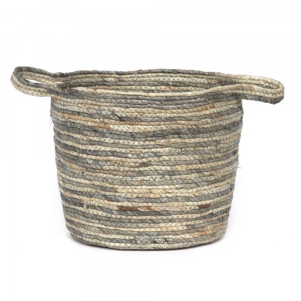 Korb 'Chio' L, natur, grau, Ø 30 cm, H 24 cm