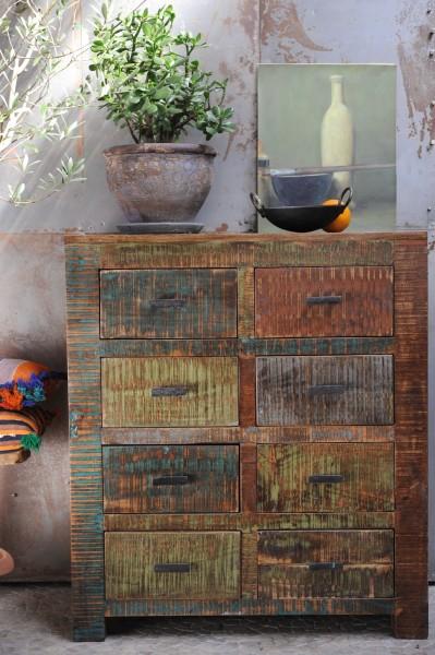 Schubladenschrank 'Hove', mit 8 Schubladen, braun, L 38 cm, B 88 cm, H 100 cm