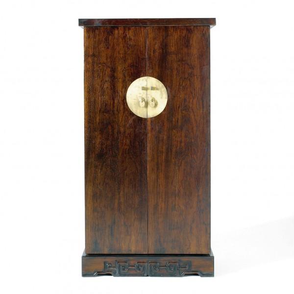 CD-Bar, braun, H 132 cm, B 70 cm, T 36 cm
