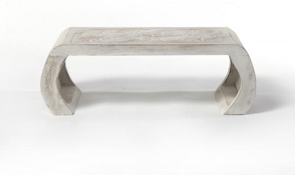"""Beistelltisch """"Sangju L"""", weiß, L 28 cm, B 85 cm, H 30 cm"""