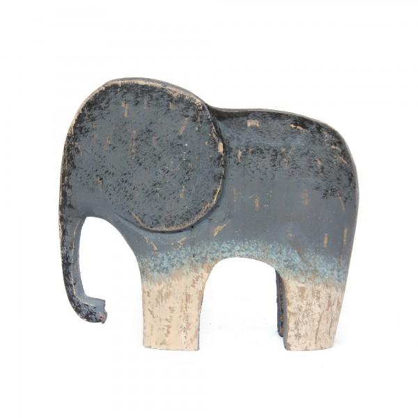 Elefant, natur, T 7 cm, B 25 cm, H 21 cm