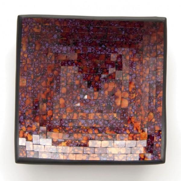 "Glasmosaikschüssel ""Lavendel"", lila/orange, L 20 cm, B 20 cm"