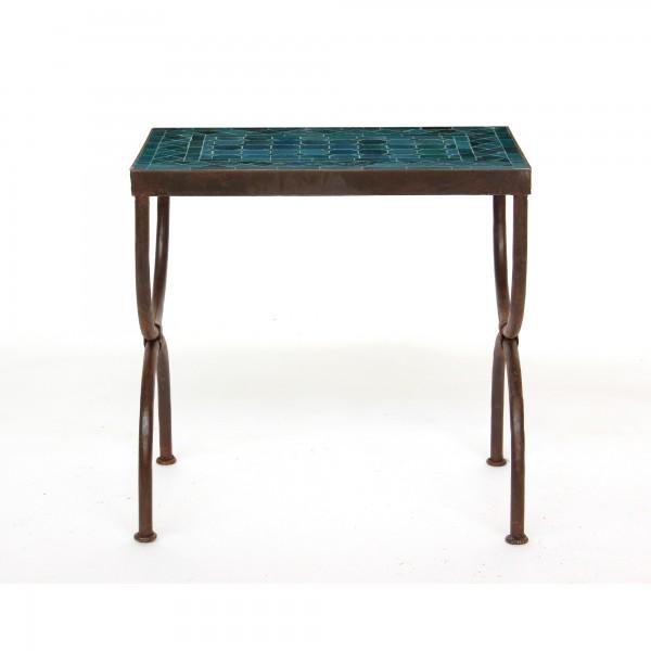 rechteckiger Tisch / Beistellstisch L, ozeanblau, T 50 cm, B 30 cm, H 50 cm