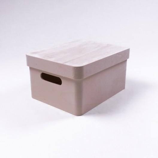 """Holzbox """"Gongji antique"""" mit Deckel, natur, L 20 cm, B 30 cm, H 14,5 cm"""