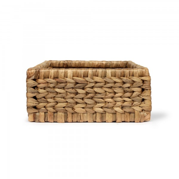 Vorratskorb mit Holzkorpus S, natur, T 31 cm, B 37 cm, H 14 cm