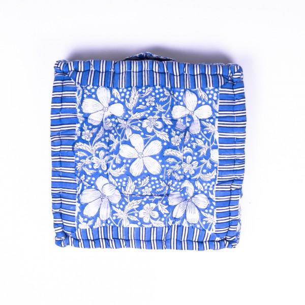 """Sitzkissen """"Indian Summer"""", manuelles Blockprintverfahren, L 38 cm, B 38 cm, H 10 cm"""