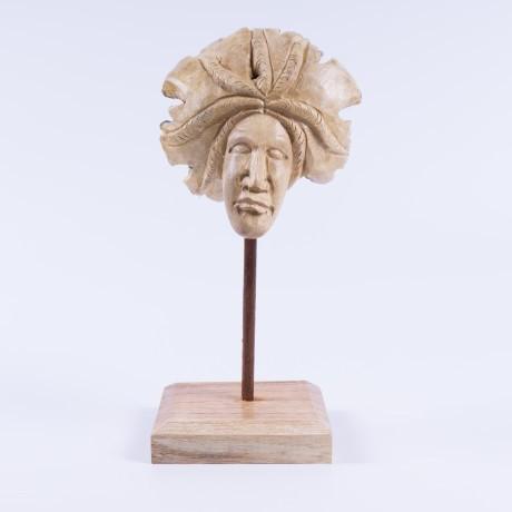 """handgeschnitzte Figur """"Medusa"""", natur, B 12 cm, H 18 cm"""