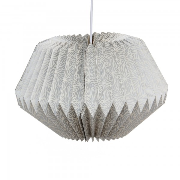 Papierlampe, silber, Ø 36 cm, H 28 cm