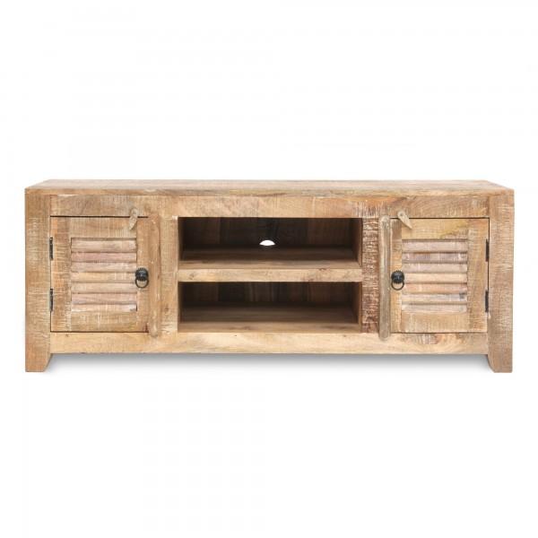 TV Board 'Shutter', braun, T 40 cm, B 120 cm, H 45 cm