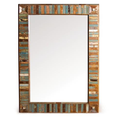 Spiegel 'Jarrow' aus recyceltem Mangoholz, B 125 cm, H 90 cm