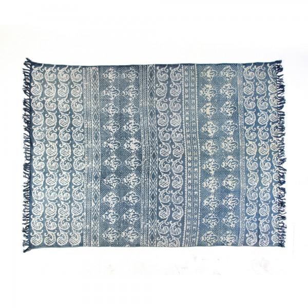 Teppich 'Ornamente', blau, T 140 cm, B 200 cm